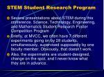 stem student research program
