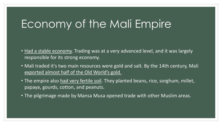 Economy of the Mali Empire