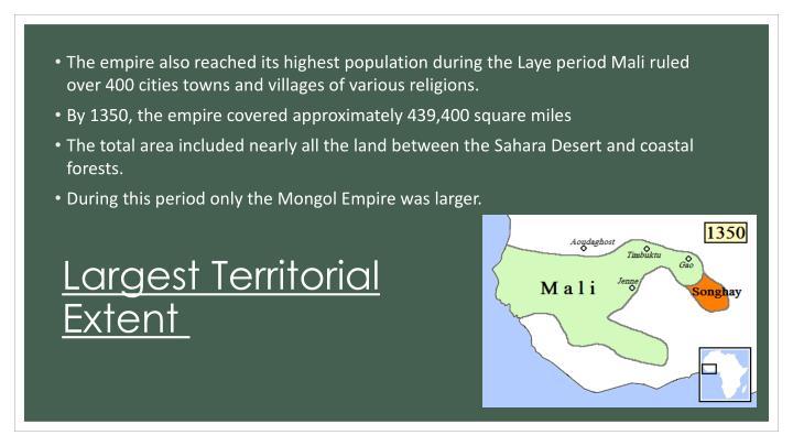 Largest Territorial Extent