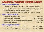 cassini huygens explore saturn