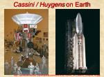 cassini huygens on earth