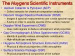 the huygens scientific instruments
