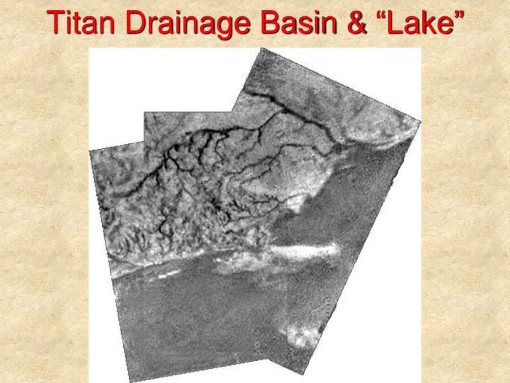 Titan Drainage Basin &