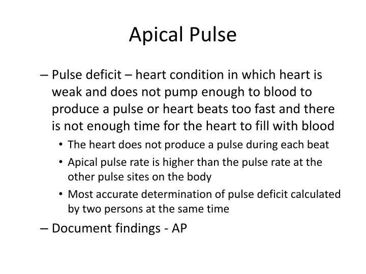 Apical Pulse