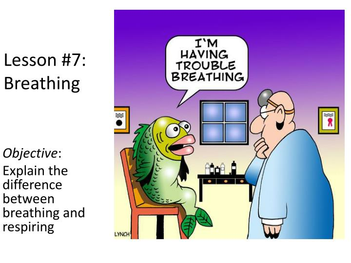 Lesson #7:  Breathing