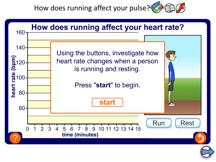 How does running affect your pulse?