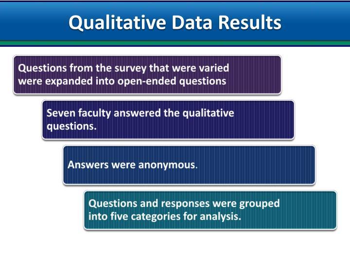 Qualitative Data Results