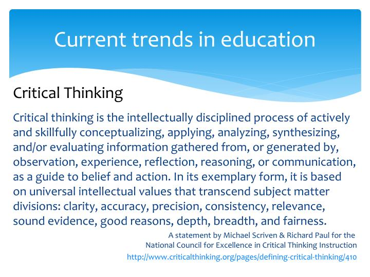 pages defining critical thinking