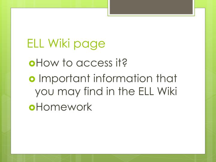 ELL Wiki page