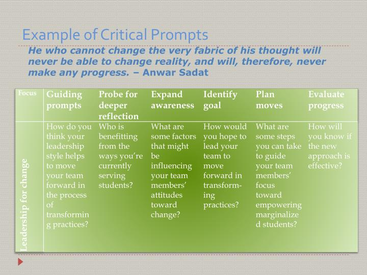 Example of Critical Prompts