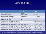lep3 and tlep