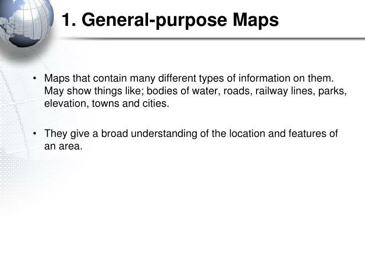 1. General-purpose Maps