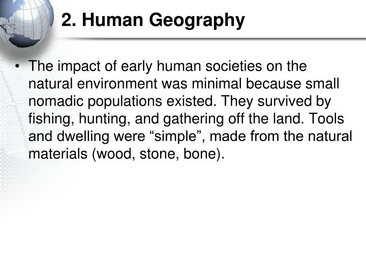 2. Human Geography