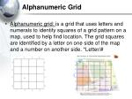 alphanumeric grid