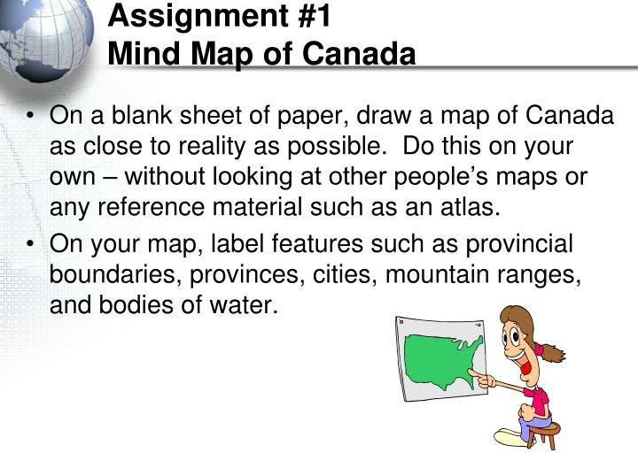 Assignment 1 mind map of canada