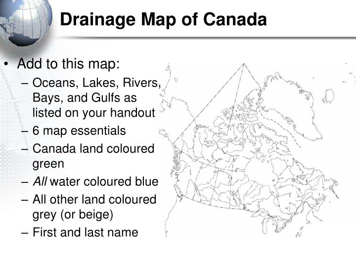 Drainage Map of Canada