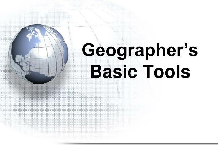 Geographer's