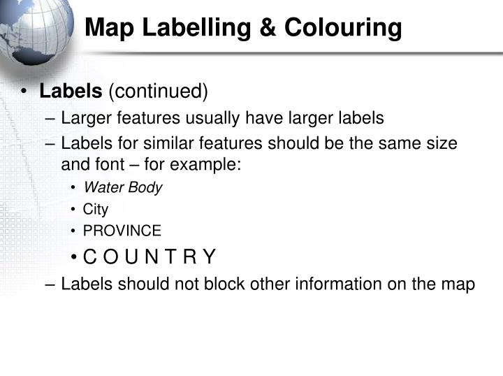 Map Labelling & Colouring