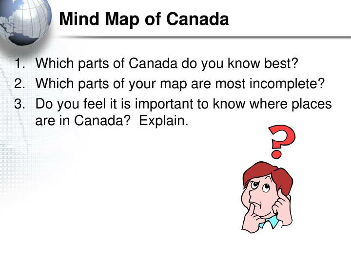Mind map of canada