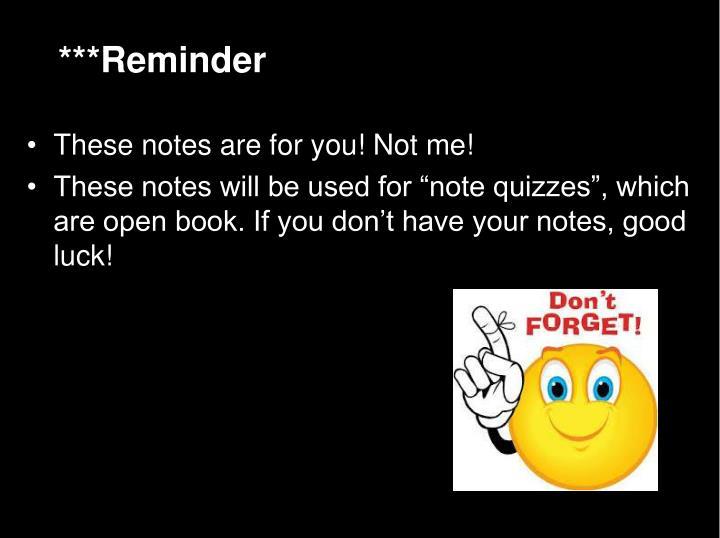 ***Reminder