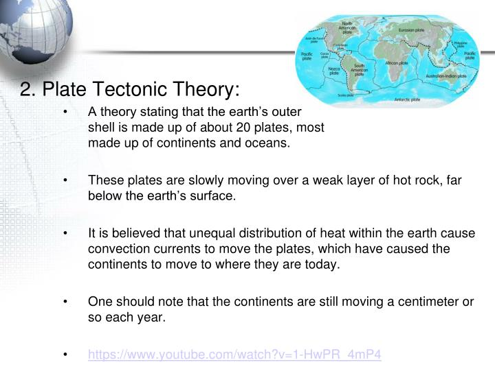 2. Plate Tectonic Theory: