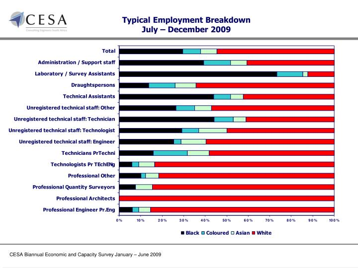 Typical Employment Breakdown