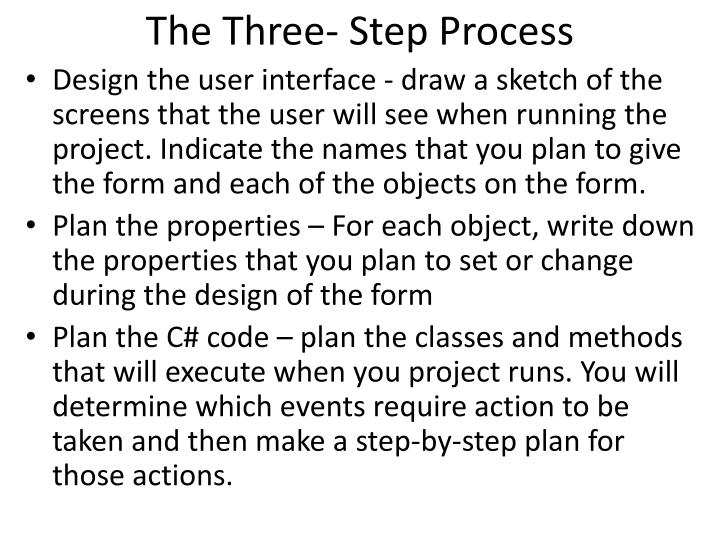 The Three- Step