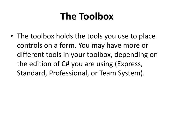 The Toolbox