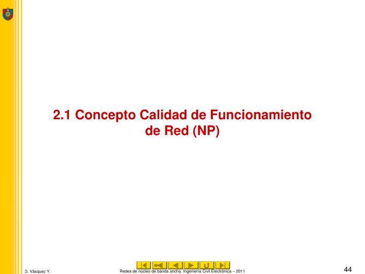 2.1 Concepto Calidad de Funcionamiento