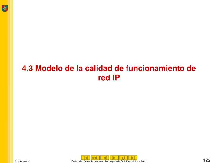 4.3 Modelo de la calidad de funcionamiento de red IP