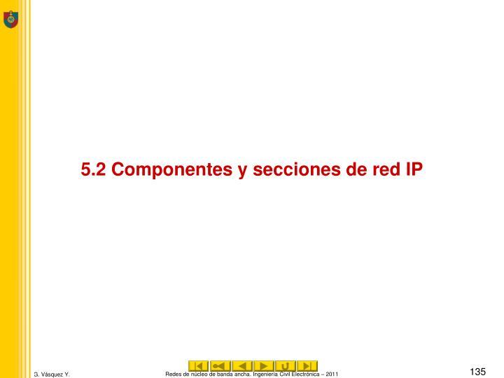5.2 Componentes y secciones de red IP