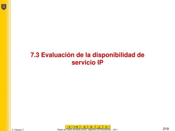 7.3 Evaluación de la disponibilidad de