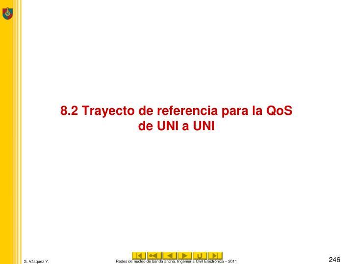 8.2 Trayecto de referencia para la QoS