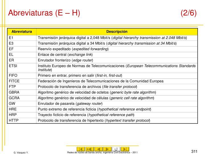 Abreviaturas (E – H) (2/6)