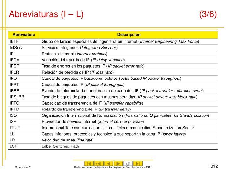 Abreviaturas (I – L) (3/6)