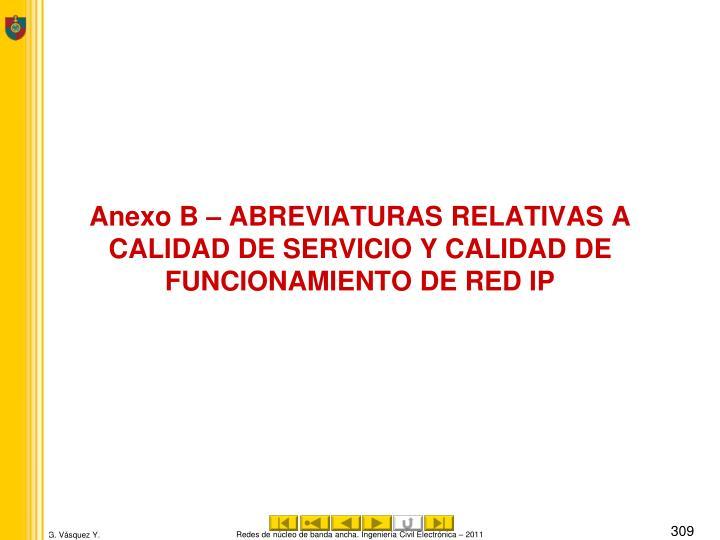 Anexo B –