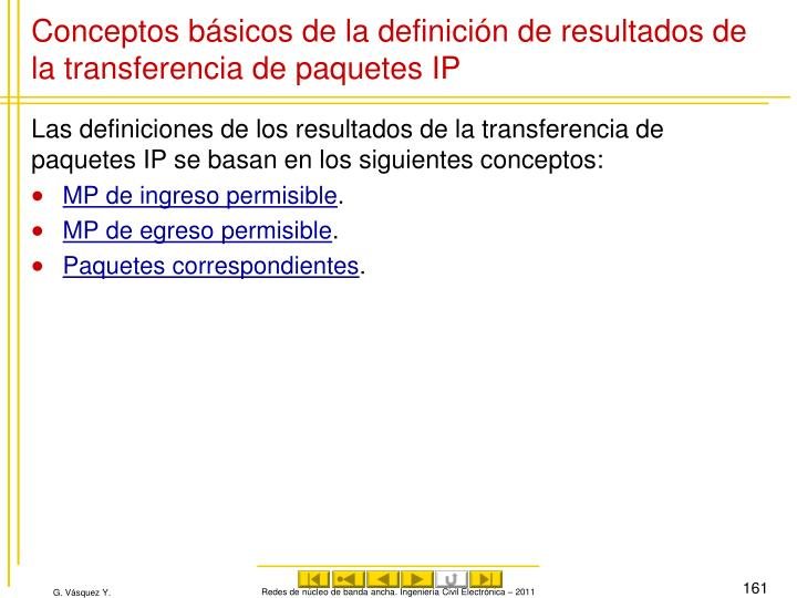 Conceptos básicos de la definición de resultados de la transferencia de paquetes IP