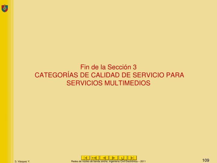 Fin de la Sección 3
