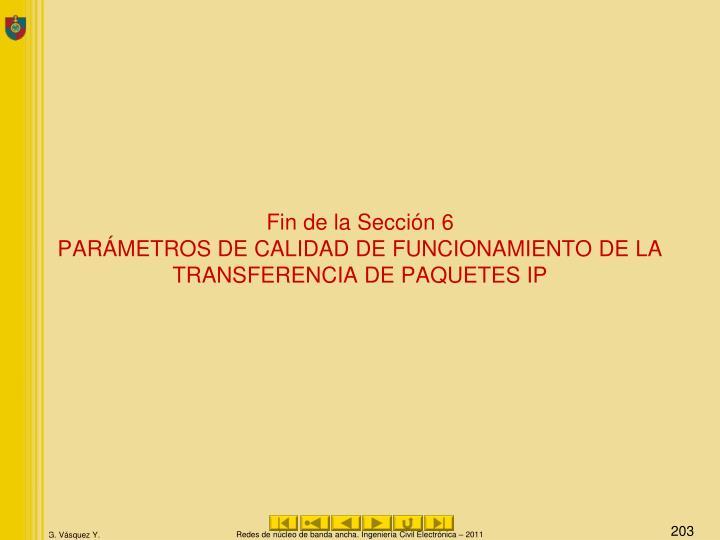 Fin de la Sección 6