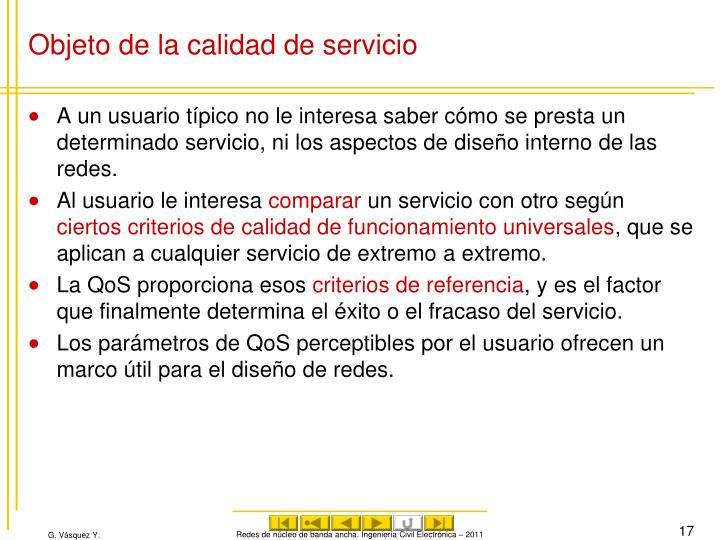 Objeto de la calidad de servicio