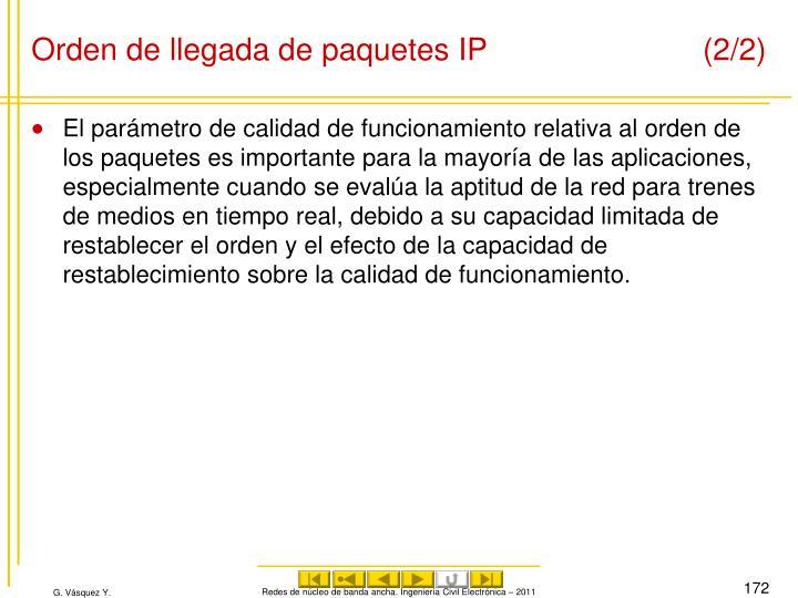 Orden de llegada de paquetes IP (2/2)