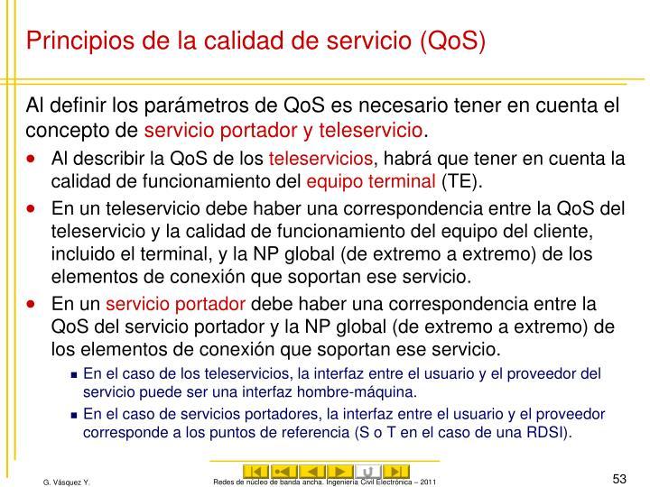Principios de la calidad de servicio (QoS)