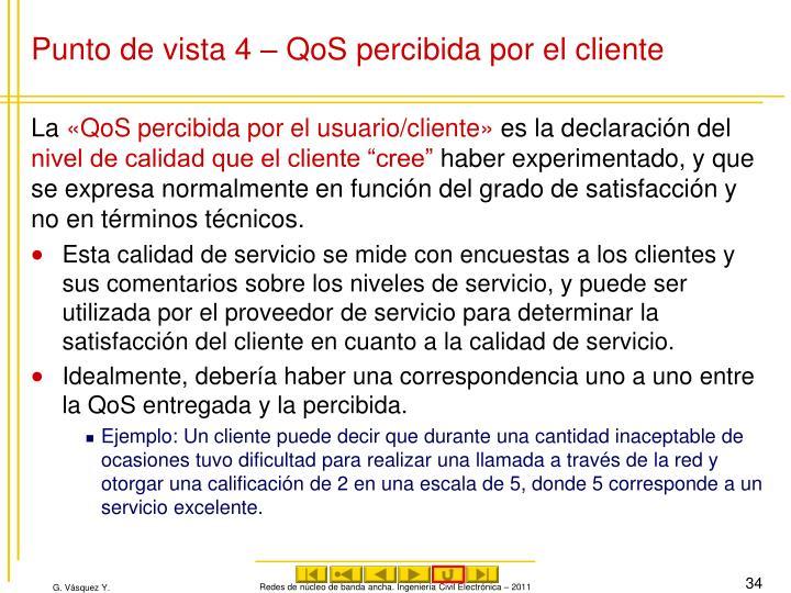Punto de vista 4 – QoS percibida por el cliente