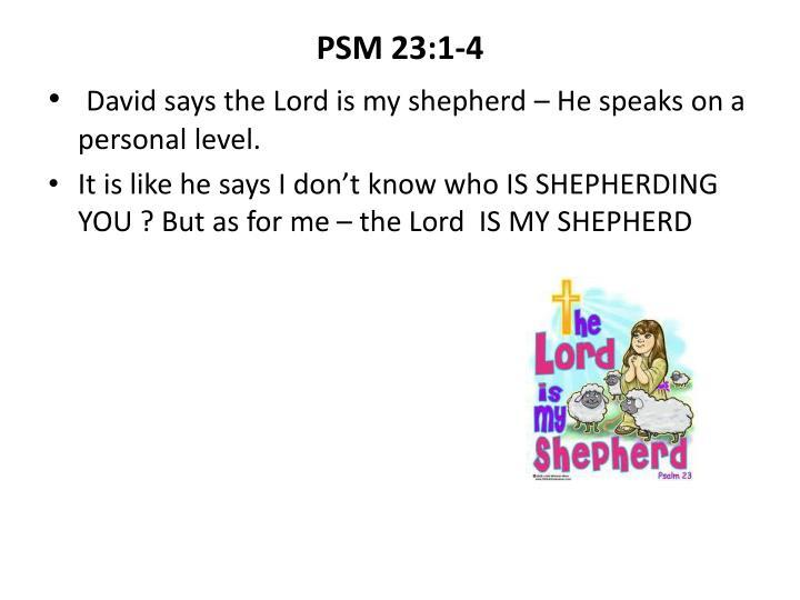 PSM 23:1-4