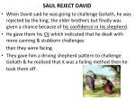 saul reject david