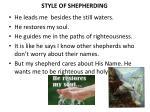 style of shepherding