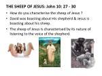 the sheep of jesus john 10 27 30