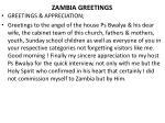 zambia greetings