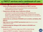4 pmtct services and a continuum of care for pregnant women with hiv