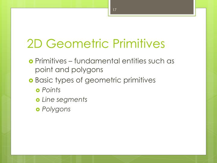 2D Geometric Primitives
